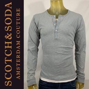 Scotch & Soda Double Henley Shirt